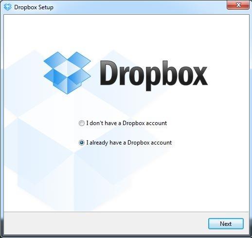 Установка Dropbox для Windows
