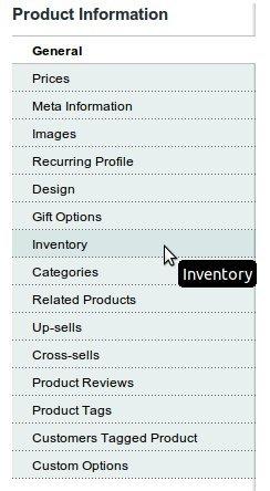 Inventory Magento