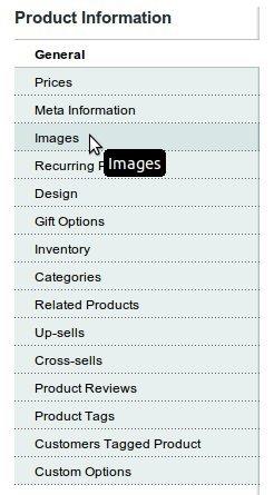 Как загрузить изображение для товара в Magento