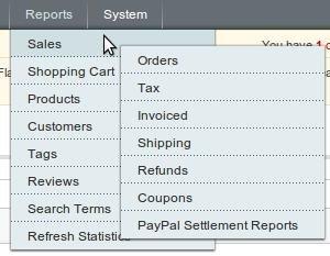 Отчеты в Magento