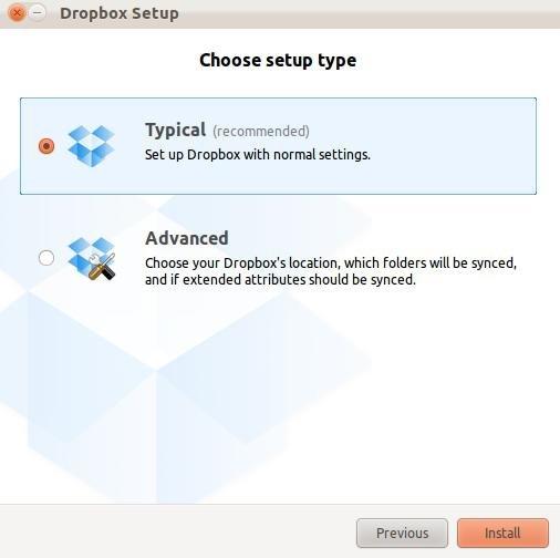 Выбираем тип аккаунта Dropbox