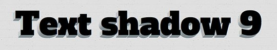 Как сделать тень с помощью CSS свойства text-shadow