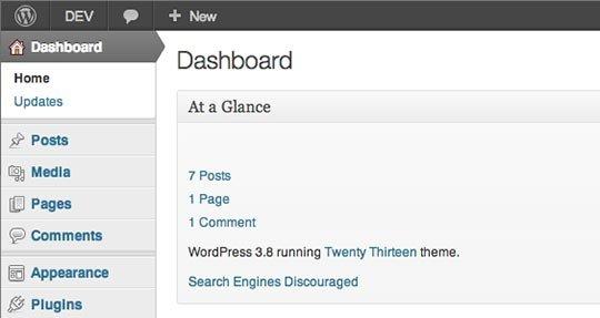 Как вернуть старый дизайн для админки в WordPress 3.8