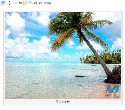 Как добавить подпись к картинкам в статье блога на WordPress